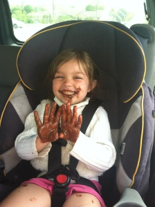 chocolate hands