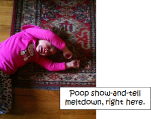 poop show and tell meltdown
