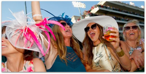 celebrating at kentucky derby
